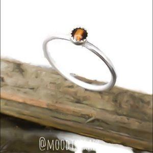 Tiger's Eye 925 Sterling Silver Ring